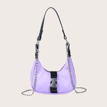 Mini Release Buckle Decor Hobo Bag