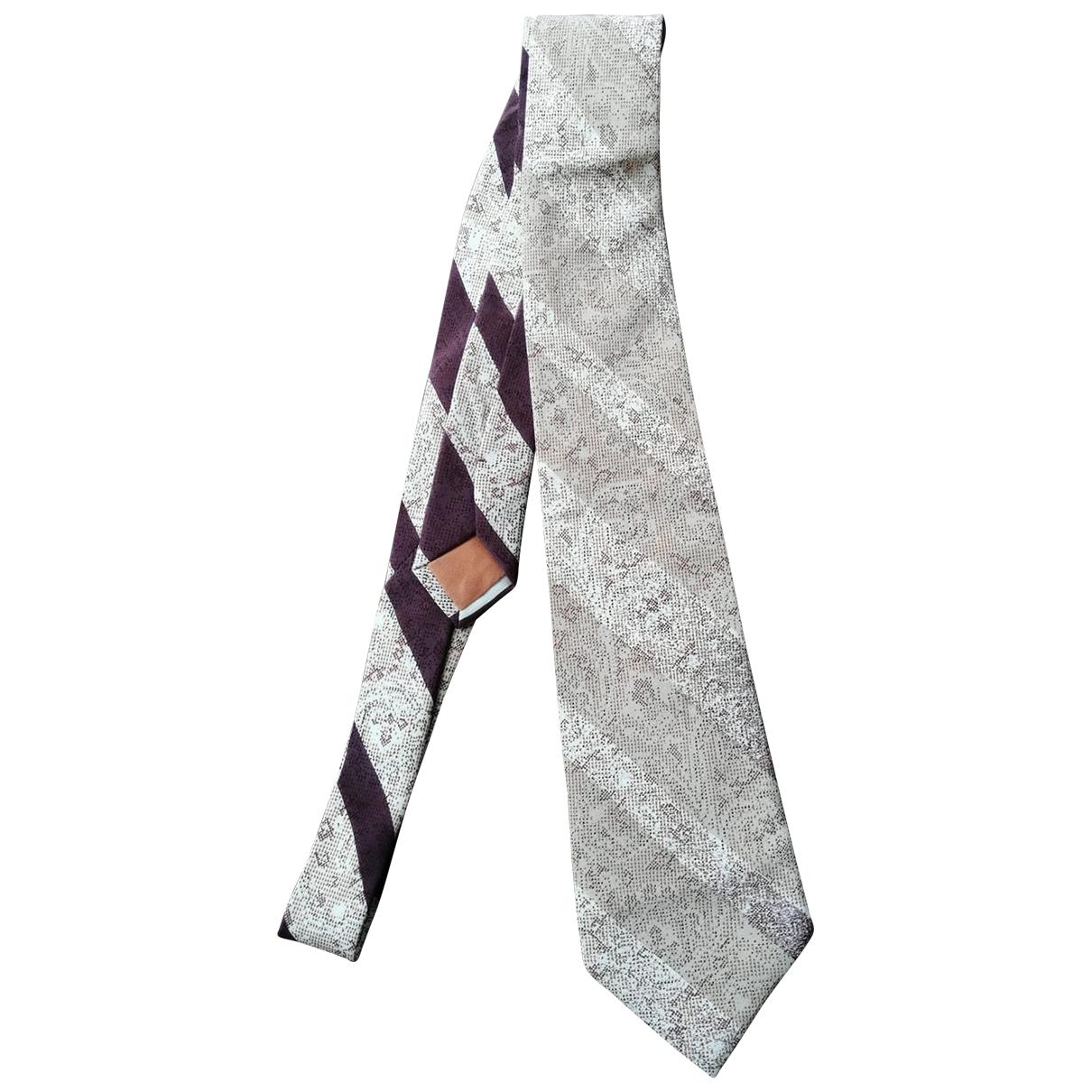 Giorgio Armani \N Krawatten in  Grau Seide