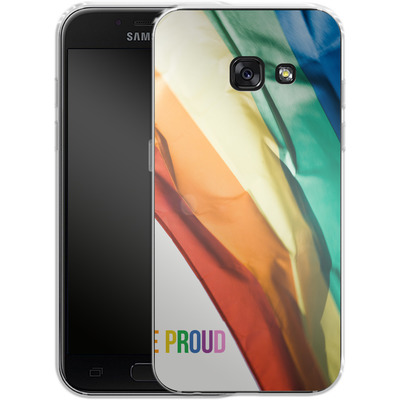 Samsung Galaxy A3 (2017) Silikon Handyhuelle - Rainbow Flag von caseable Designs