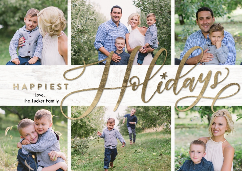 Holiday Photo Cards 5x7 Cards, Premium Cardstock 120lb, Card & Stationery -Holiday Happiest by Tumbalina