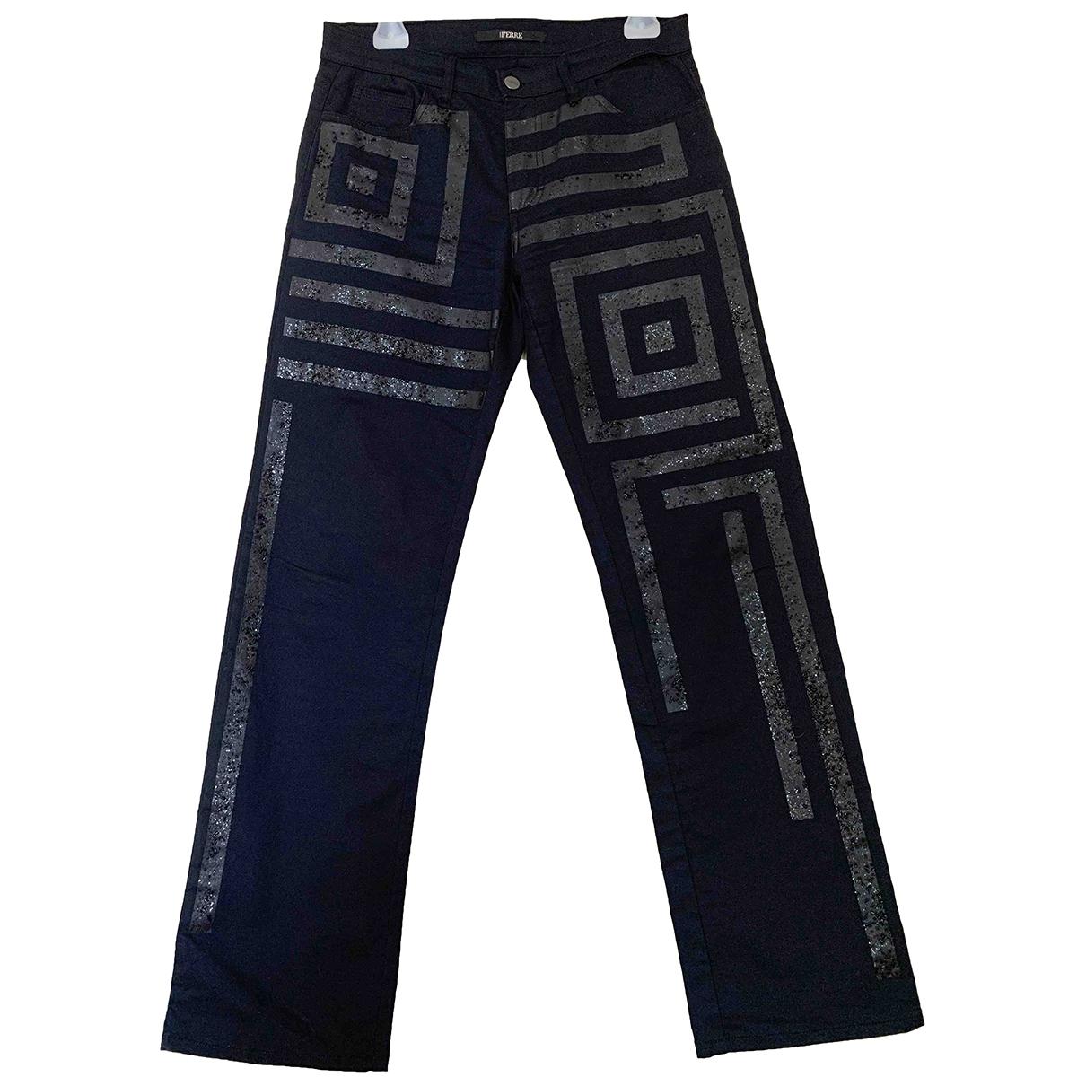 Gianfranco Ferré \N Black Cotton Jeans for Women 30 US