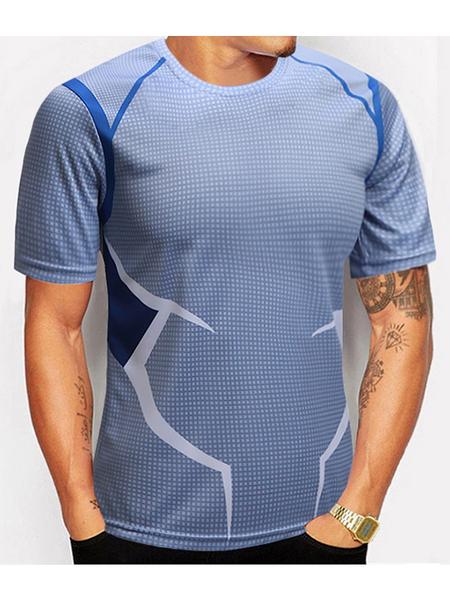 Yoins Men American Captain Avenger Alliance Series T-shirt Sports T-shirt