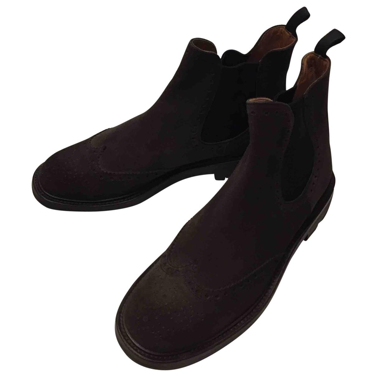 Churchs - Boots   pour femme en suede - marron