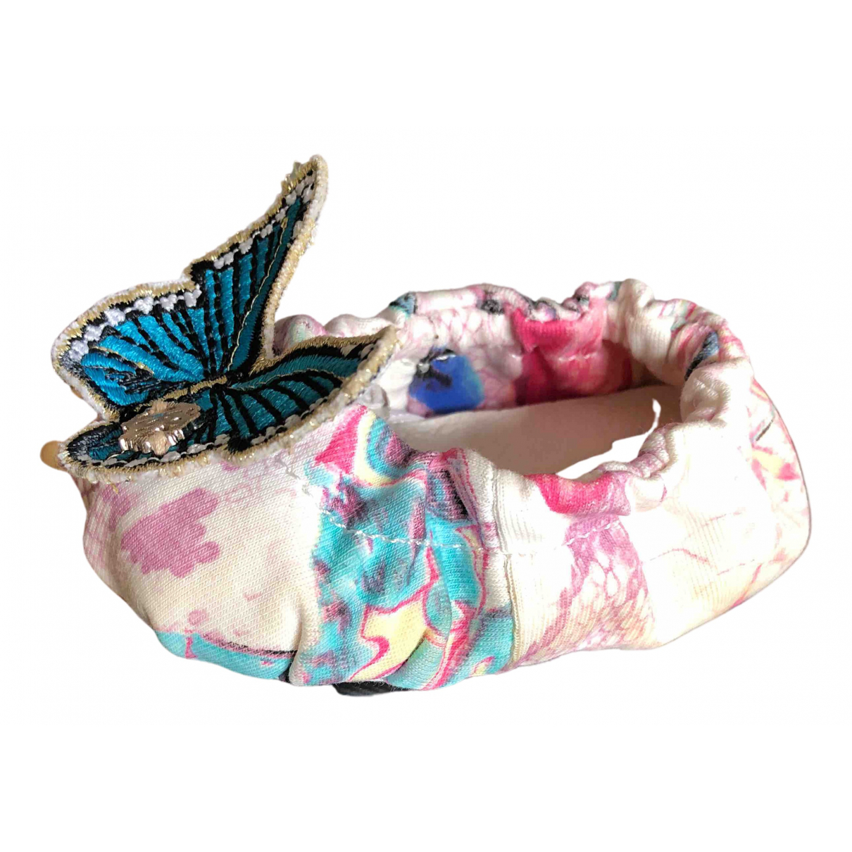 Roberto Cavalli N Pink Cloth First shoes for Kids 17 FR