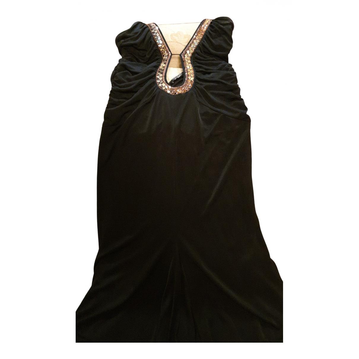 Patrizia Pepe \N Kleid in  Schwarz Baumwolle - Elasthan
