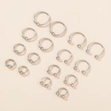 8 Paare Nase Ring mit rundem Ball Dekor