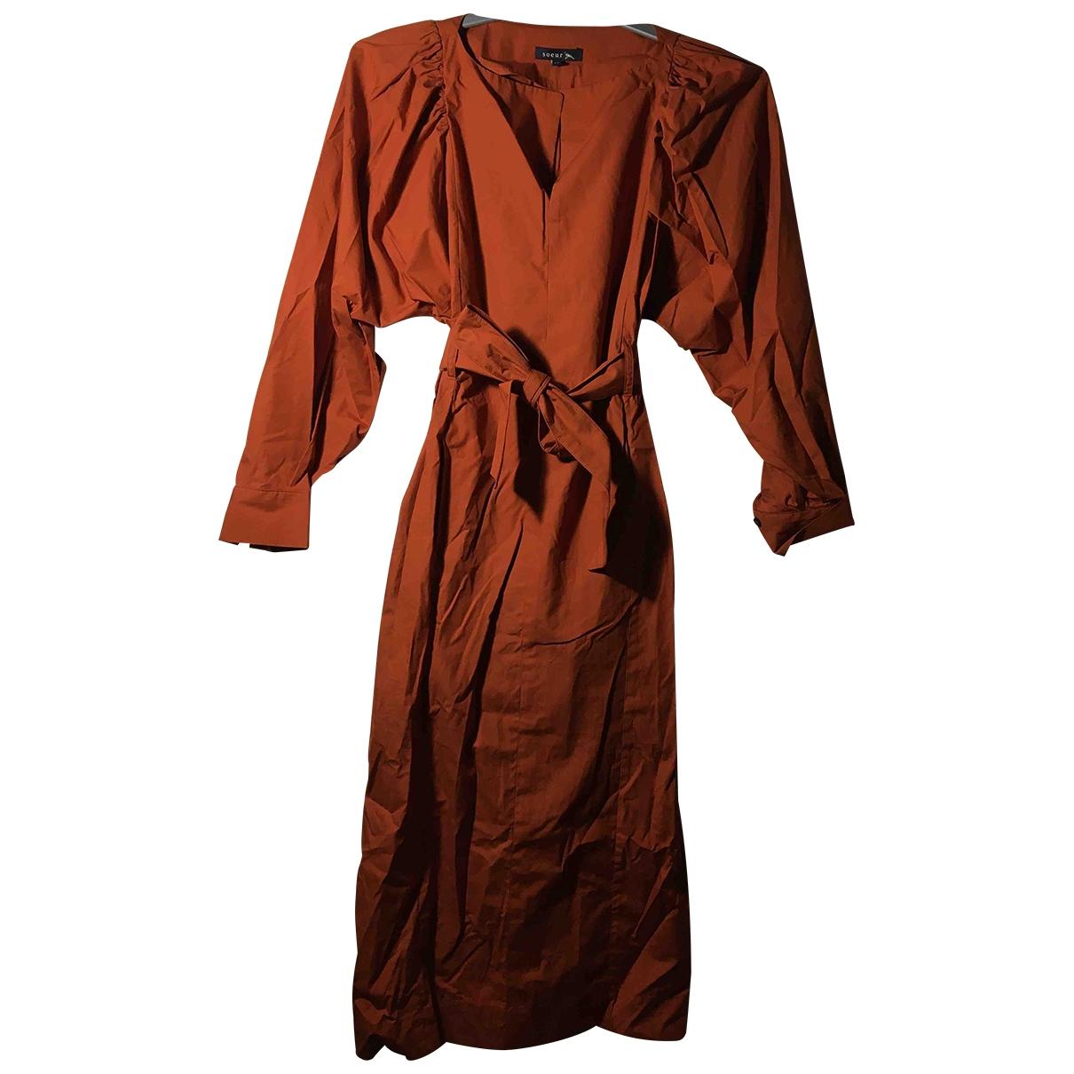 Soeur - Robe   pour femme en coton - orange