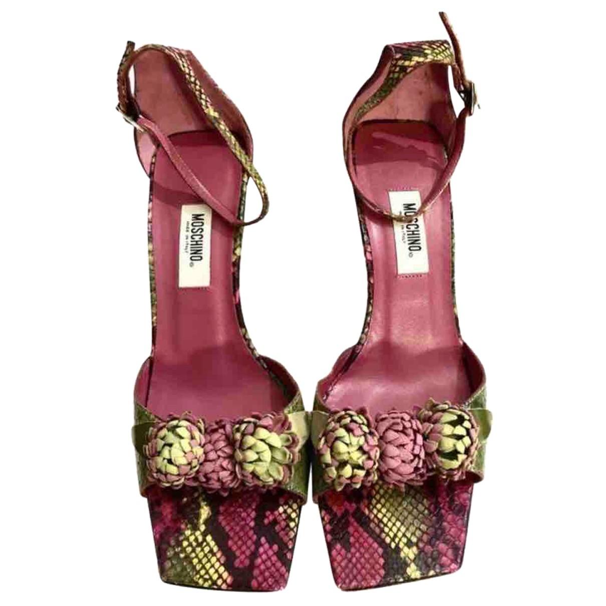 Sandalias de Piton Moschino