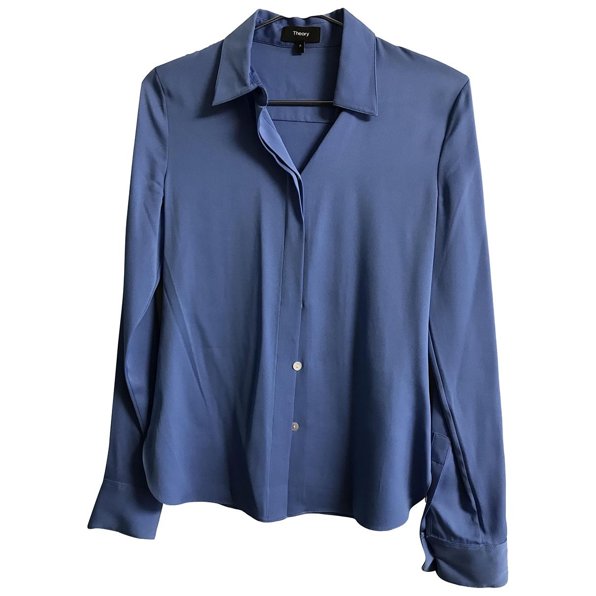 Theory \N Blue Silk  top for Women XS International