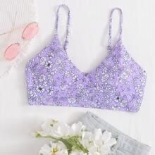 Bikini Top mit Blumen Muster
