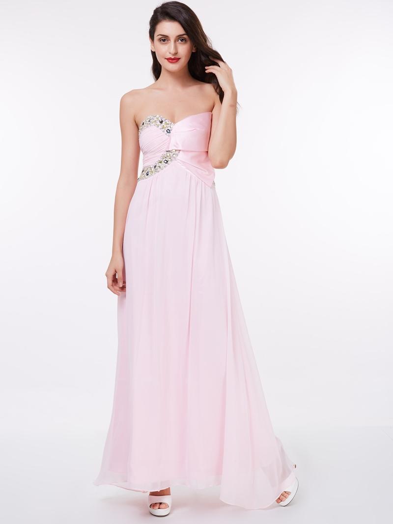 Ericdress Sweetheart Beaded A Line Evening Dress