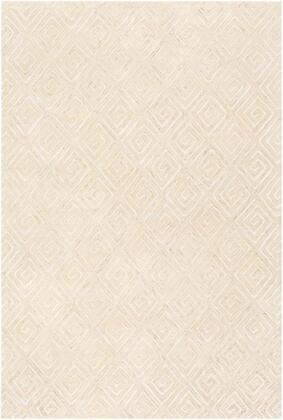 OPS2310-810 8' x 10' Rug  in Ivory and Light Gray and Taupe and