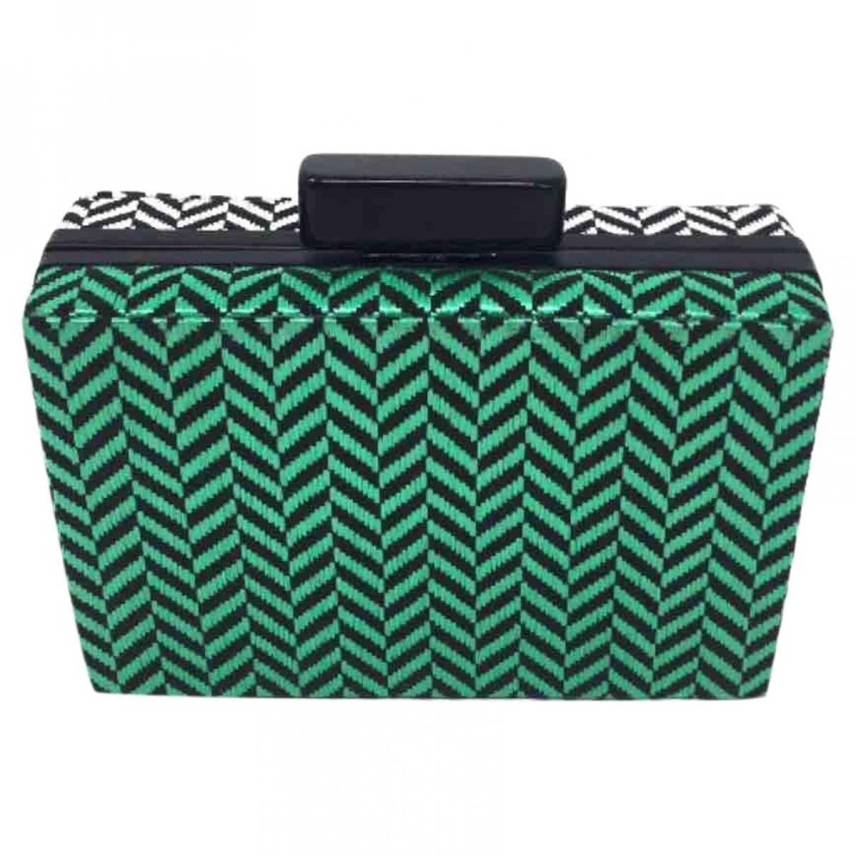 Zara \N Green Cloth Clutch bag for Women \N