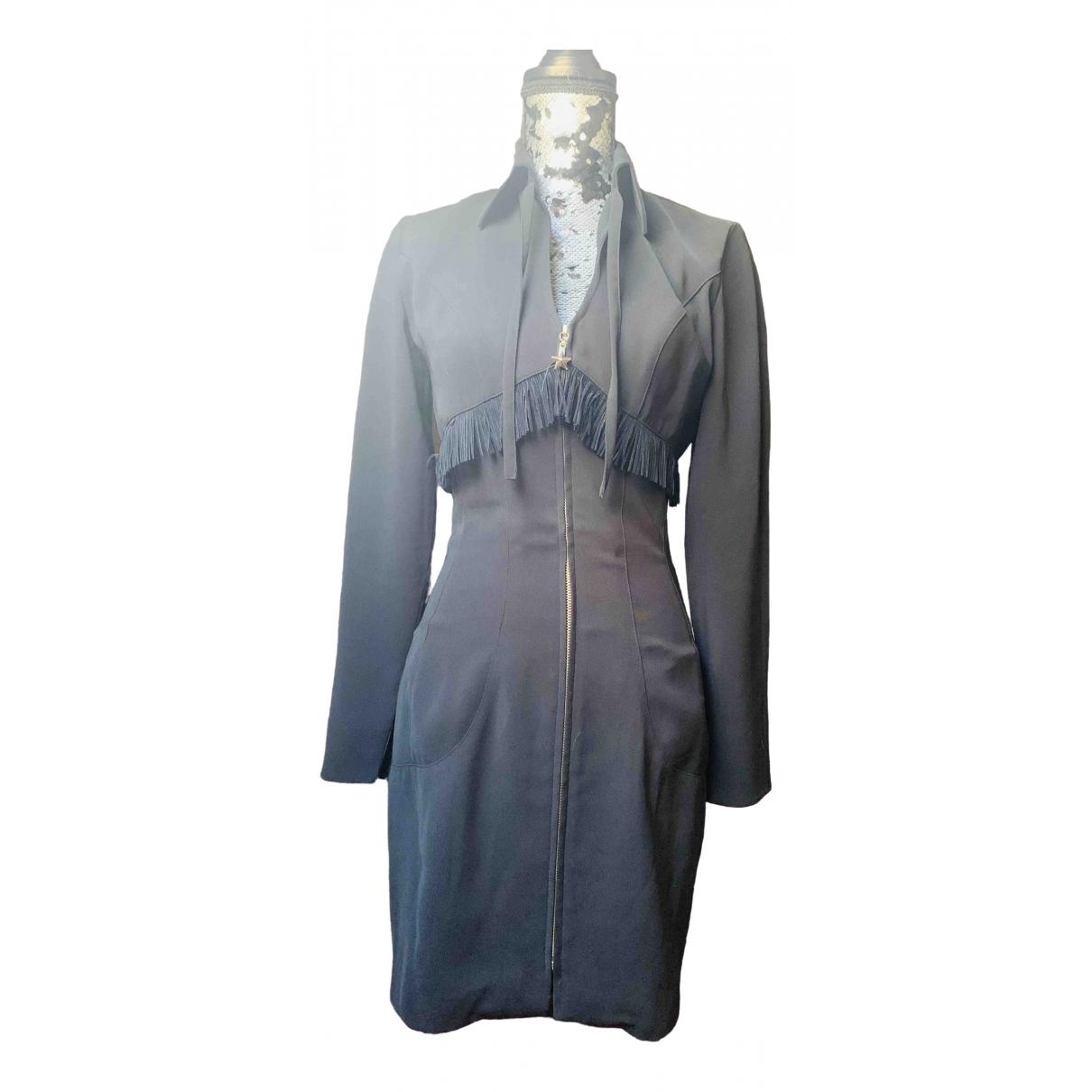 Mugler \N Kleid in  Schwarz Polyester