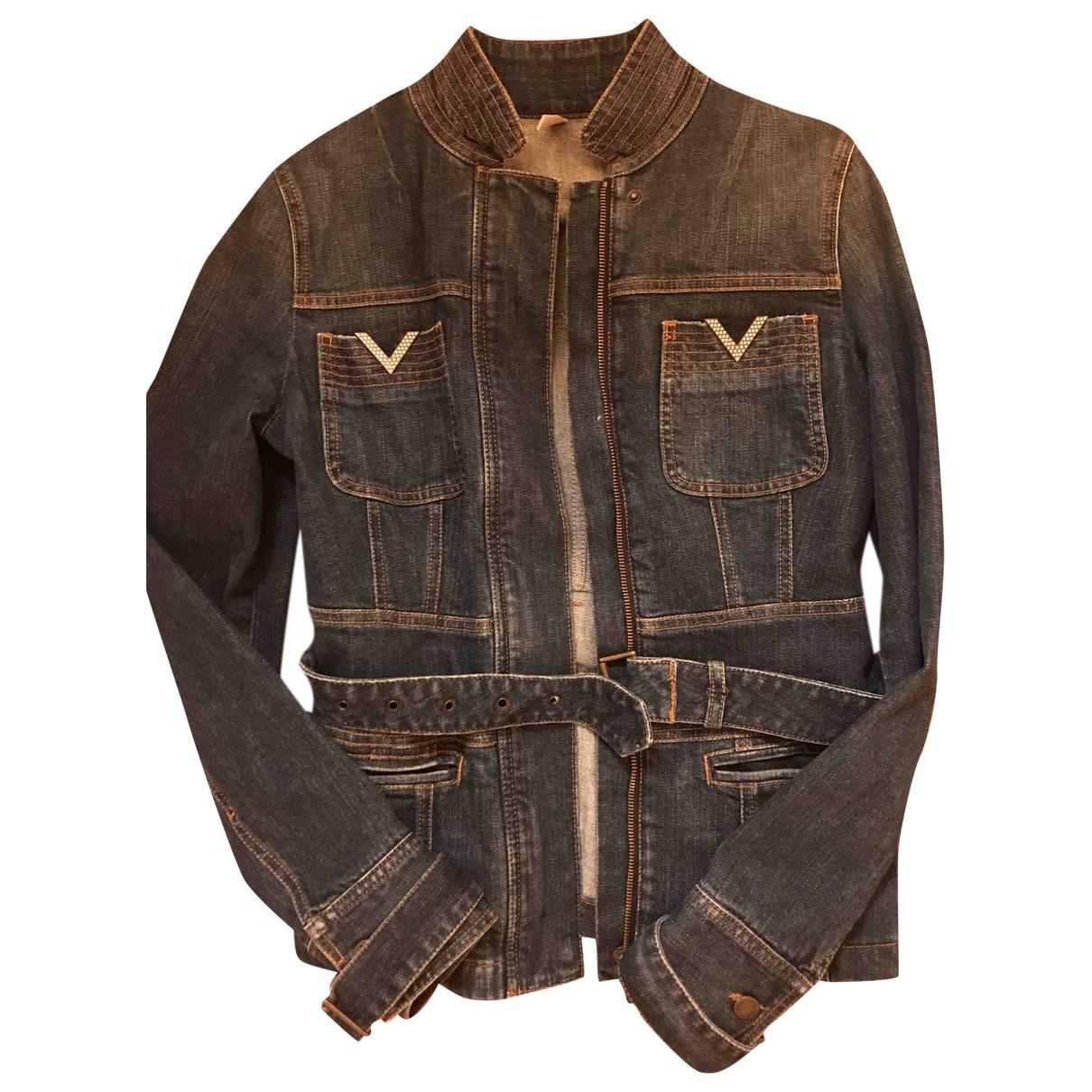 Red Valentino Garavani \N Blue Cotton coat for Women 42 IT