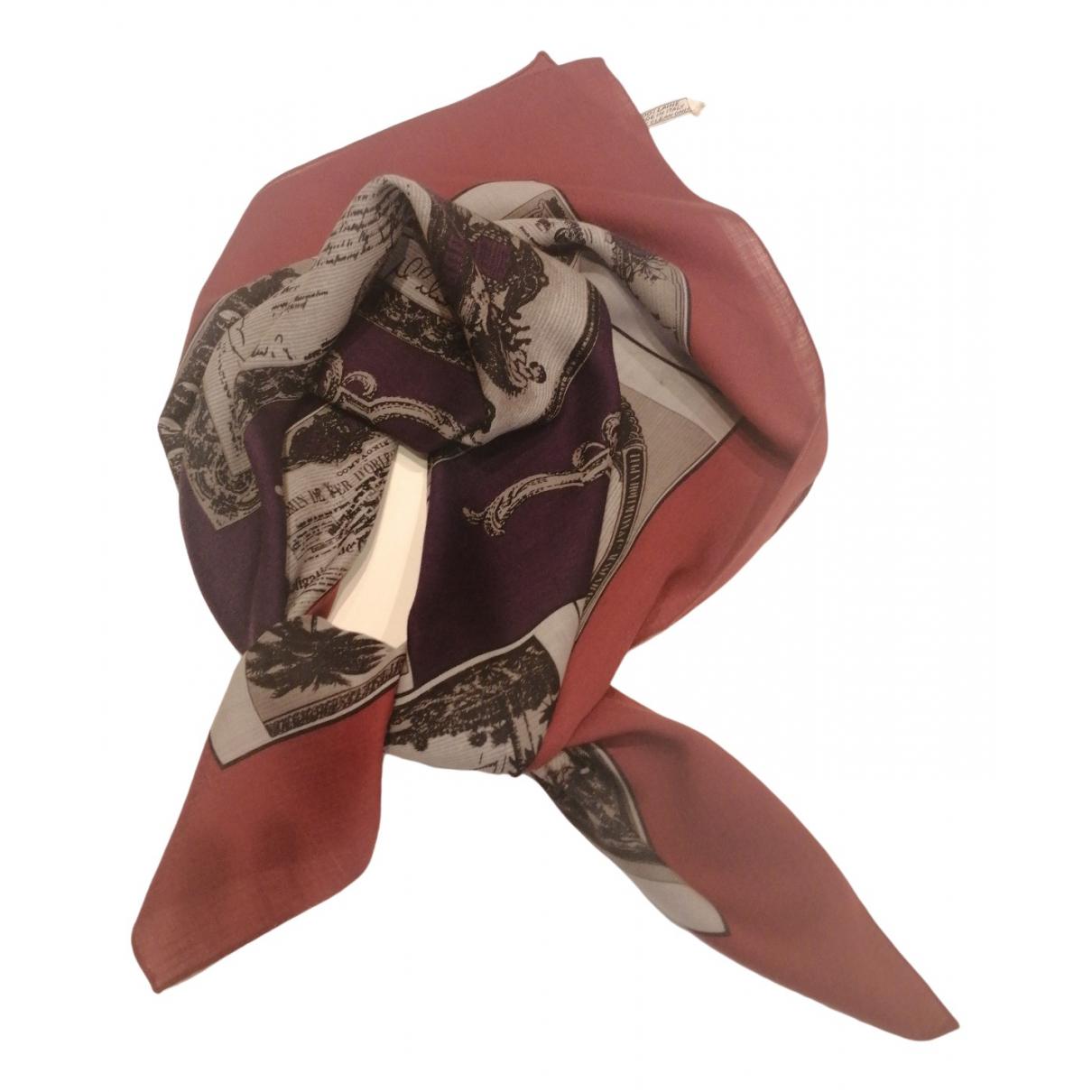Jean Paul Gaultier - Foulard   pour femme en laine - rouge