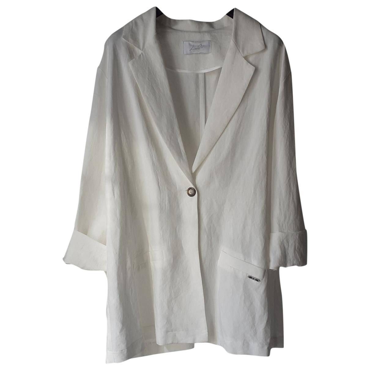 Non Signe / Unsigned Oversize Jacke in  Weiss Viskose