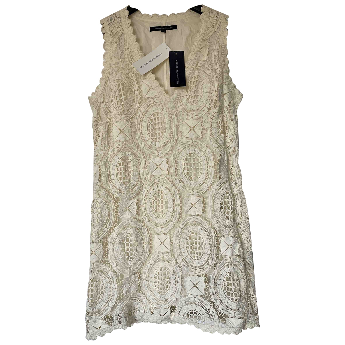 French Connection \N Ecru Cotton dress for Women 8 UK