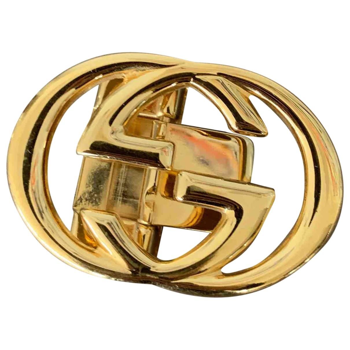 Gucci GG Buckle Gold Metal belt for Women XXS International