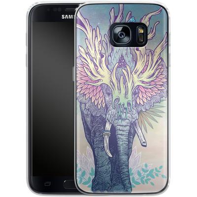 Samsung Galaxy S7 Silikon Handyhuelle - Spirit Elephant von Mat Miller