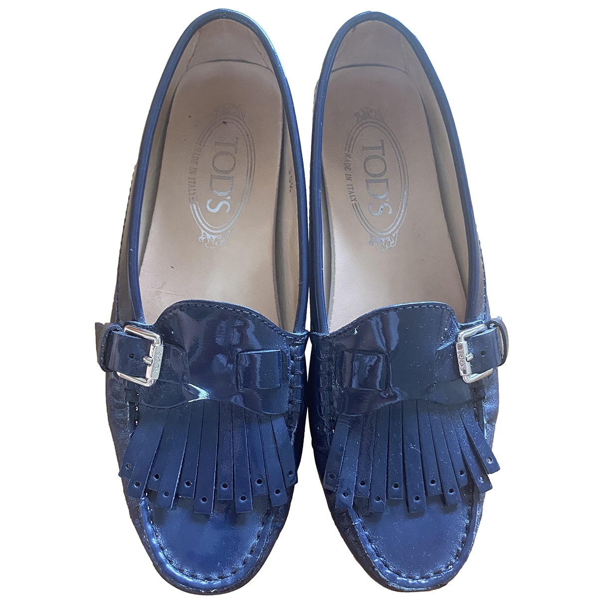 Tod's \N Blue Patent leather Flats for Women 35.5 EU