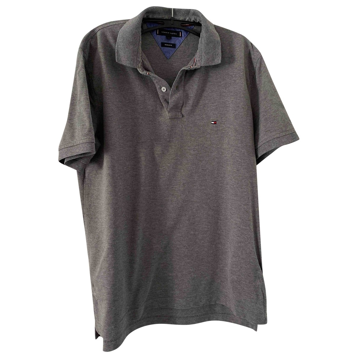 Tommy Hilfiger \N Grey Cotton Polo shirts for Men L International