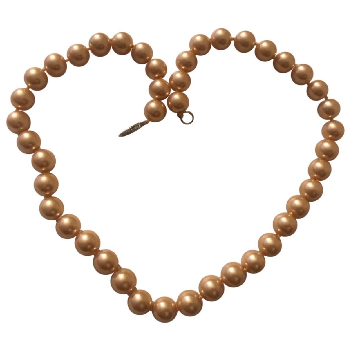 Non Signe / Unsigned Nacre Kette in  Gold Perlen