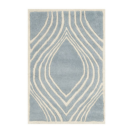 Safavieh Jerred Geometric Hand Tufted Wool Rug, One Size , Blue