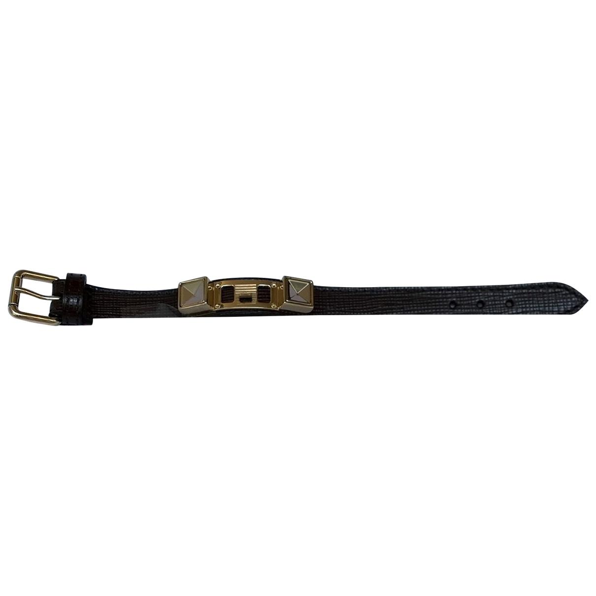 Proenza Schouler \N Armband in  Braun Leder