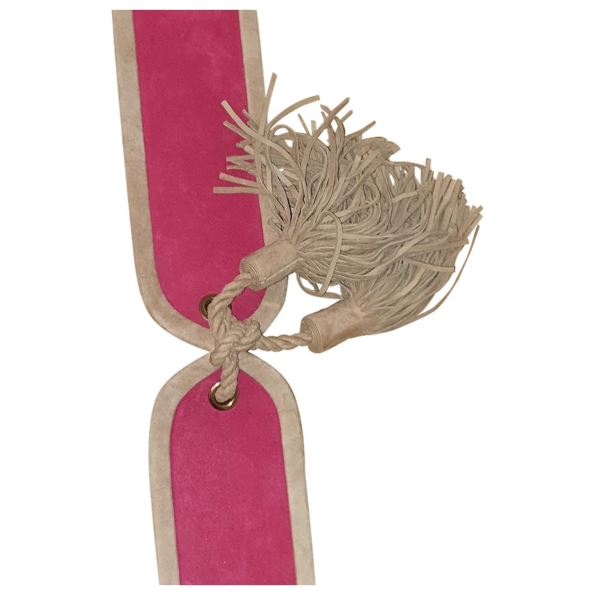 Balmain \N Pink Suede belt for Women XXS International