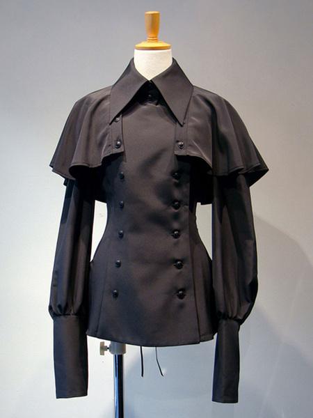 Milanoo Gothic Lolita Blouses Lace Up Lolita Top Long Sleeves White Lolita Shirt