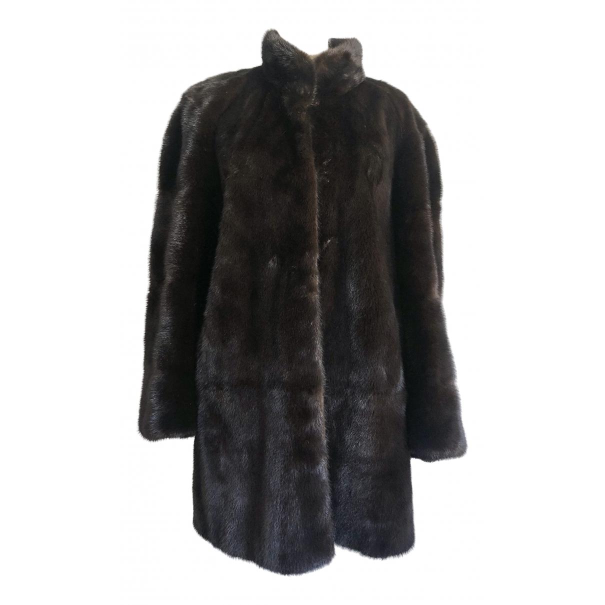 - Manteau   pour femme en vison - marron
