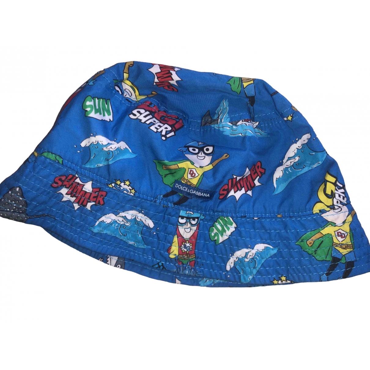 Dolce & Gabbana - Chapeaux.Bonnets.Gants   pour enfant en coton - bleu