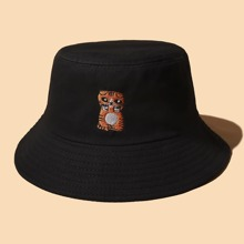 Tiger Embroidery Bucket Hat