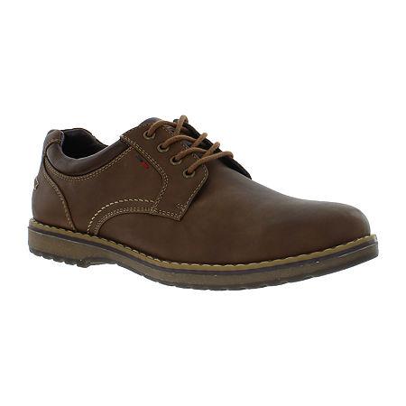IZOD Mens Lewis Oxford Shoes, 13 Medium, Brown