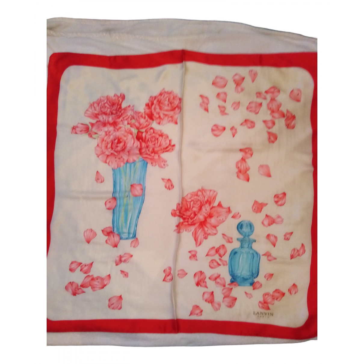 Lanvin N Red Silk Silk handkerchief for Women N
