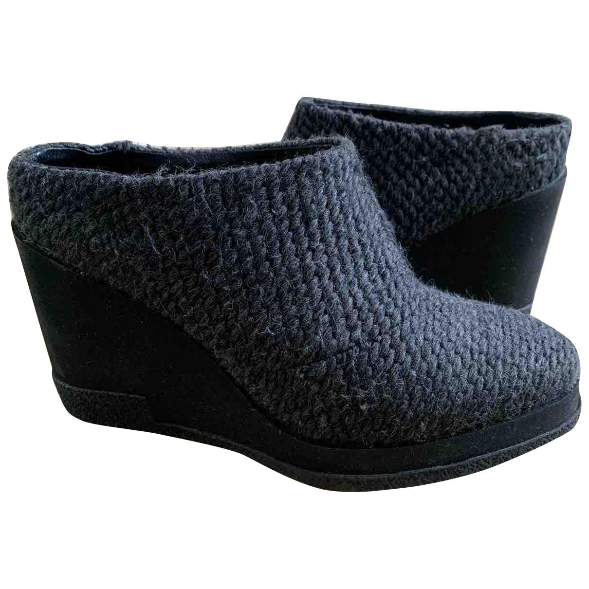 Miista \N Grey Cloth Mules & Clogs for Women 37 EU