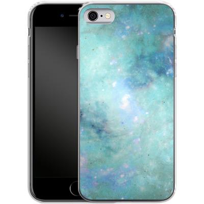 Apple iPhone 6 Silikon Handyhuelle - Abstract Galaxy - Light Blue von Barruf