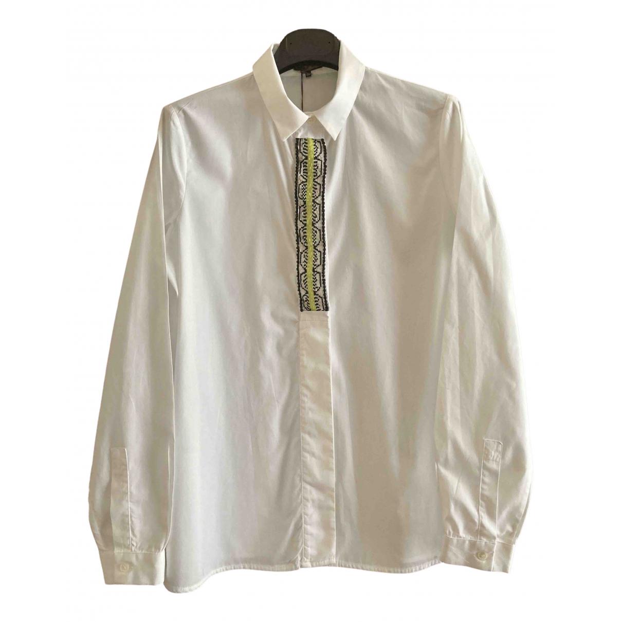 Maliparmi - Top   pour femme en coton - blanc