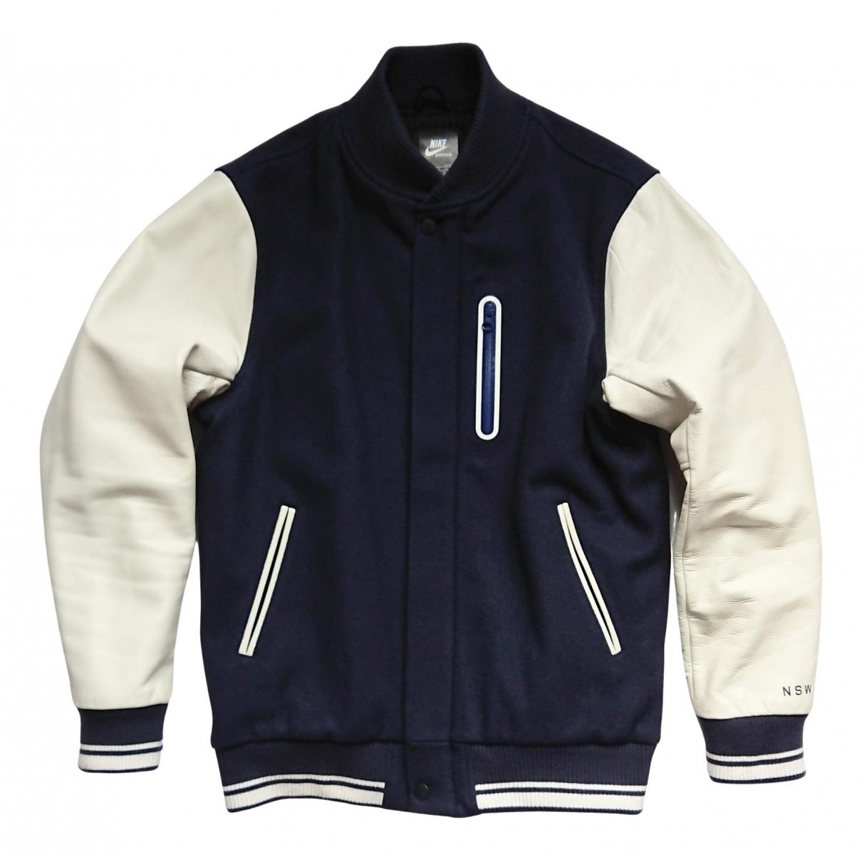Nike \N Jacke in  Blau Wolle