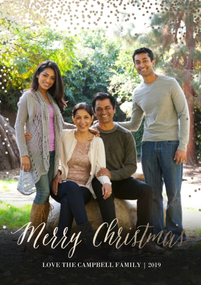 Christmas Photo Cards 5x7 Cards, Standard Cardstock 85lb, Card & Stationery -Glittering Christmas