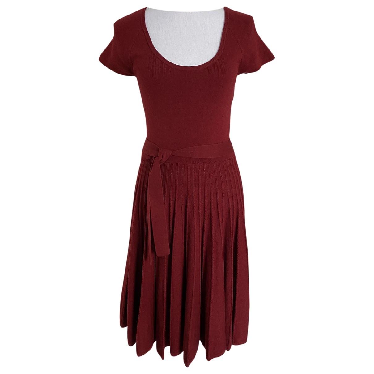 Bcbg Max Azria \N Burgundy Wool dress for Women M International