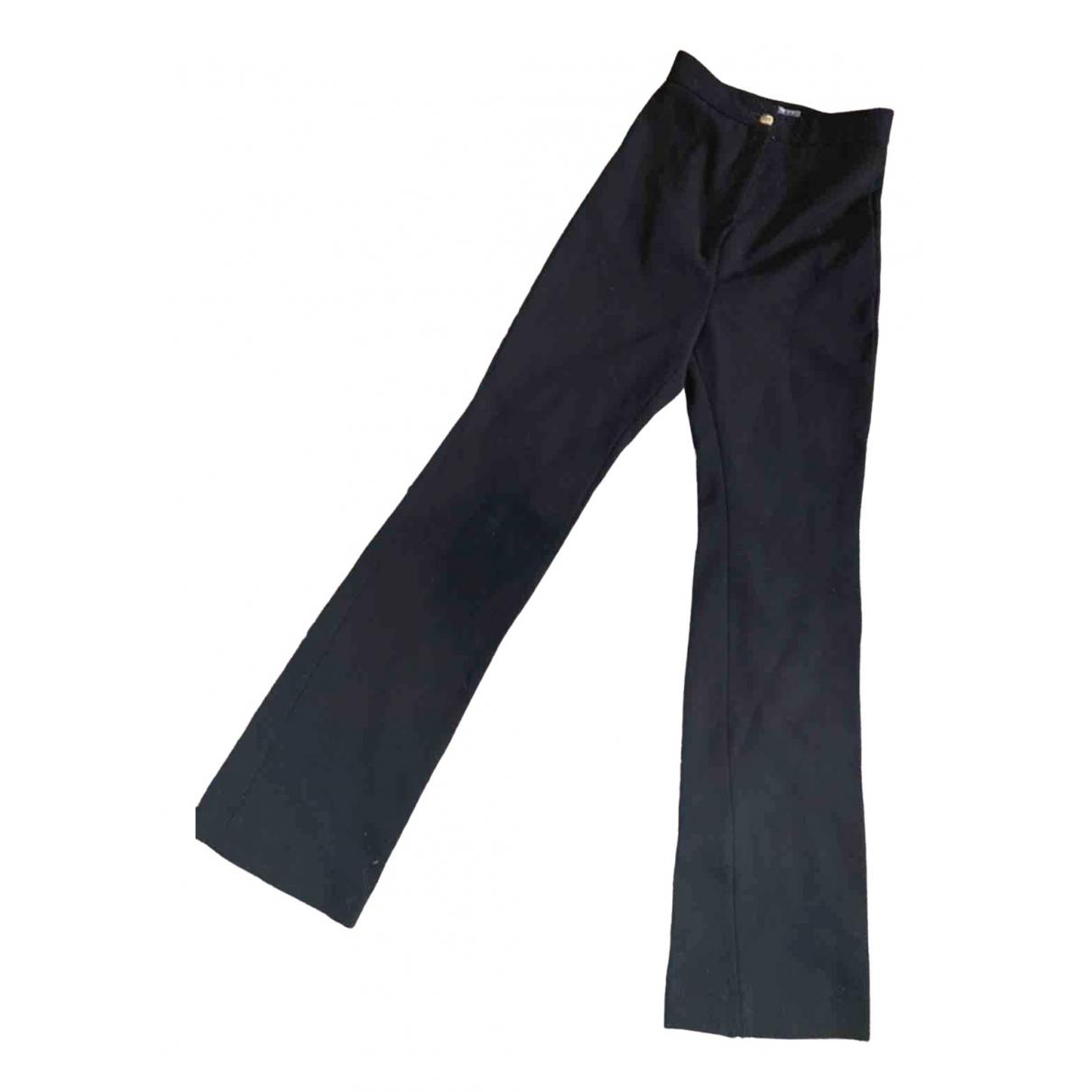 Acne Studios \N Black Spandex Trousers for Women 36 FR