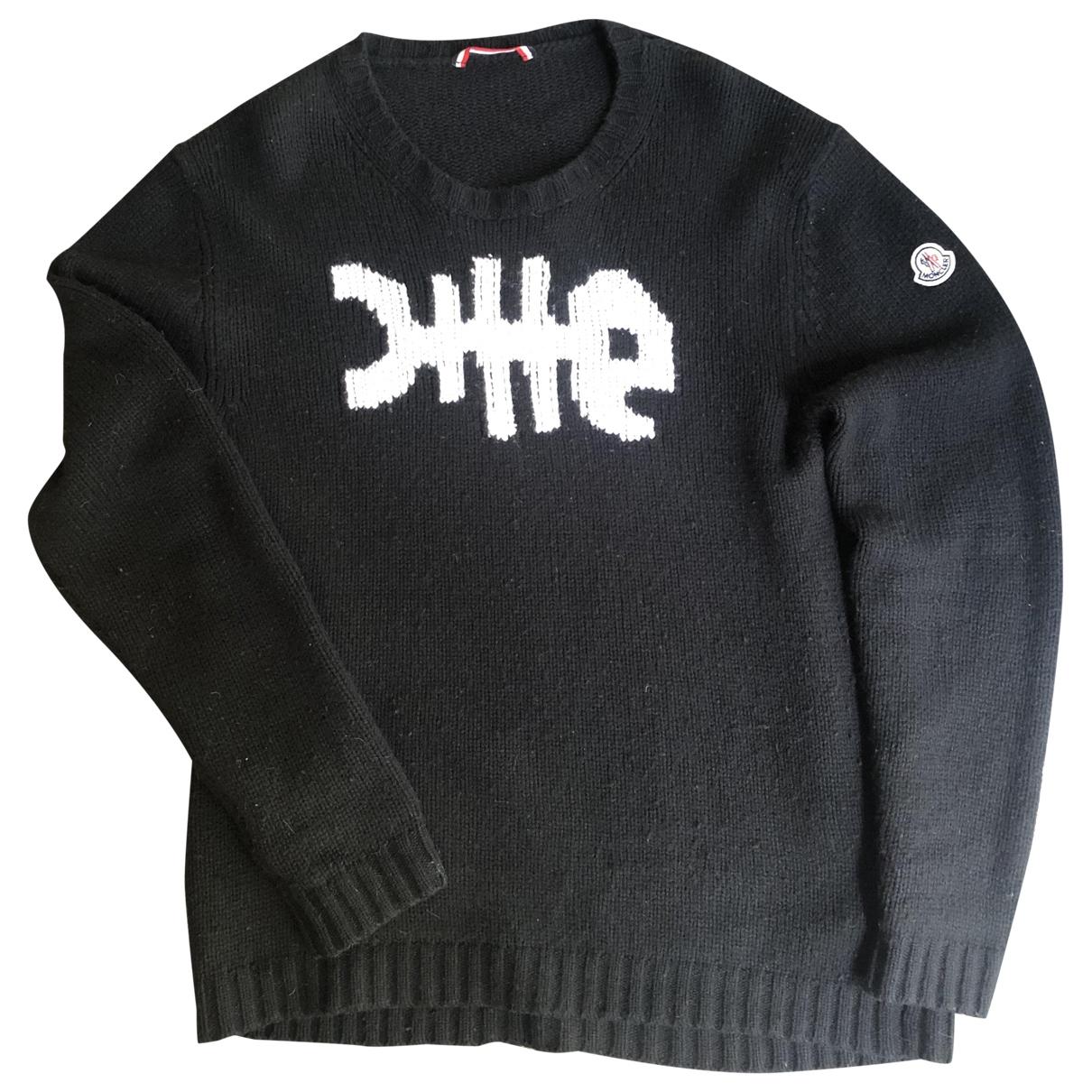 Moncler \N Pullover.Westen.Sweatshirts  in  Schwarz Wolle