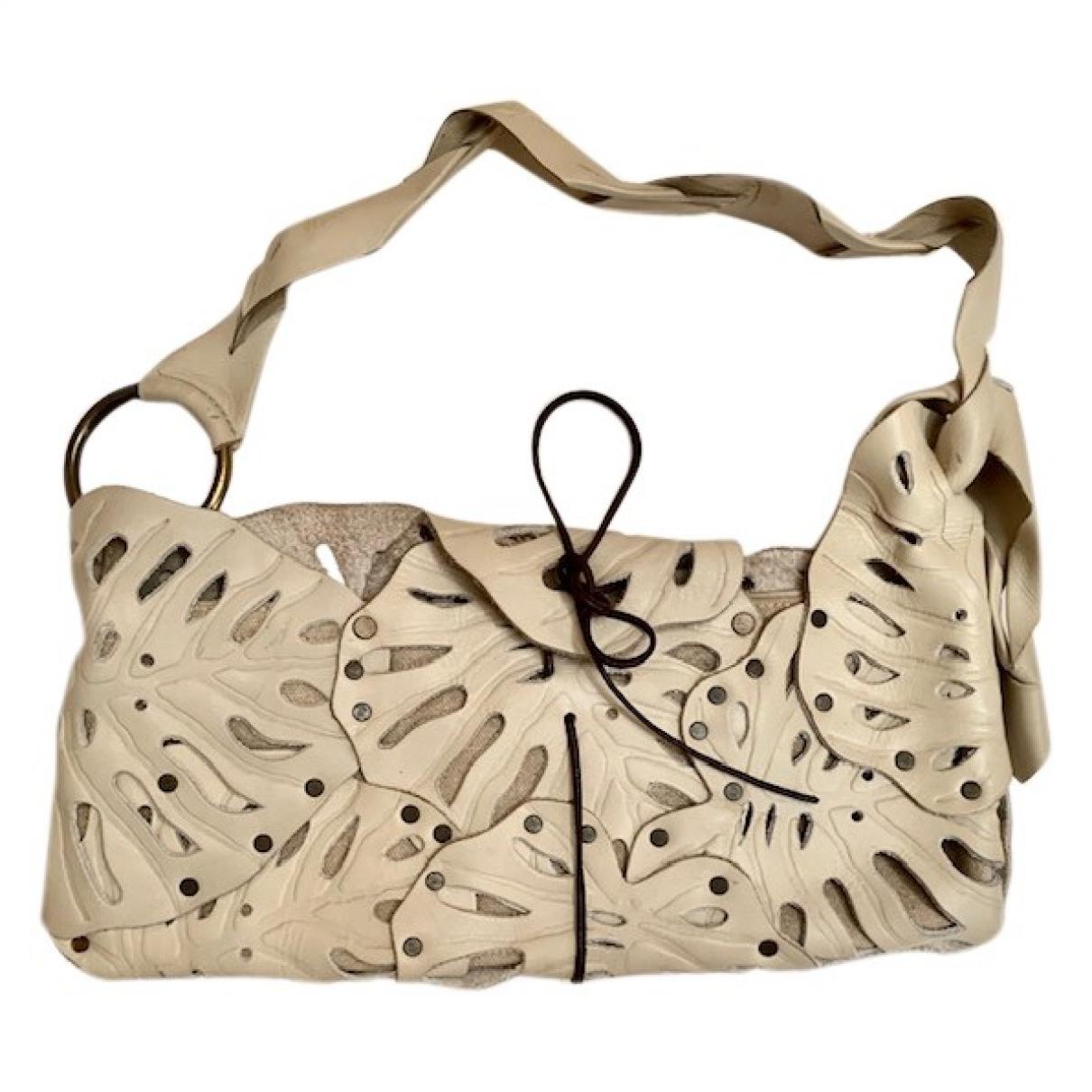 Jamin Puech \N Ecru Leather Clutch bag for Women \N