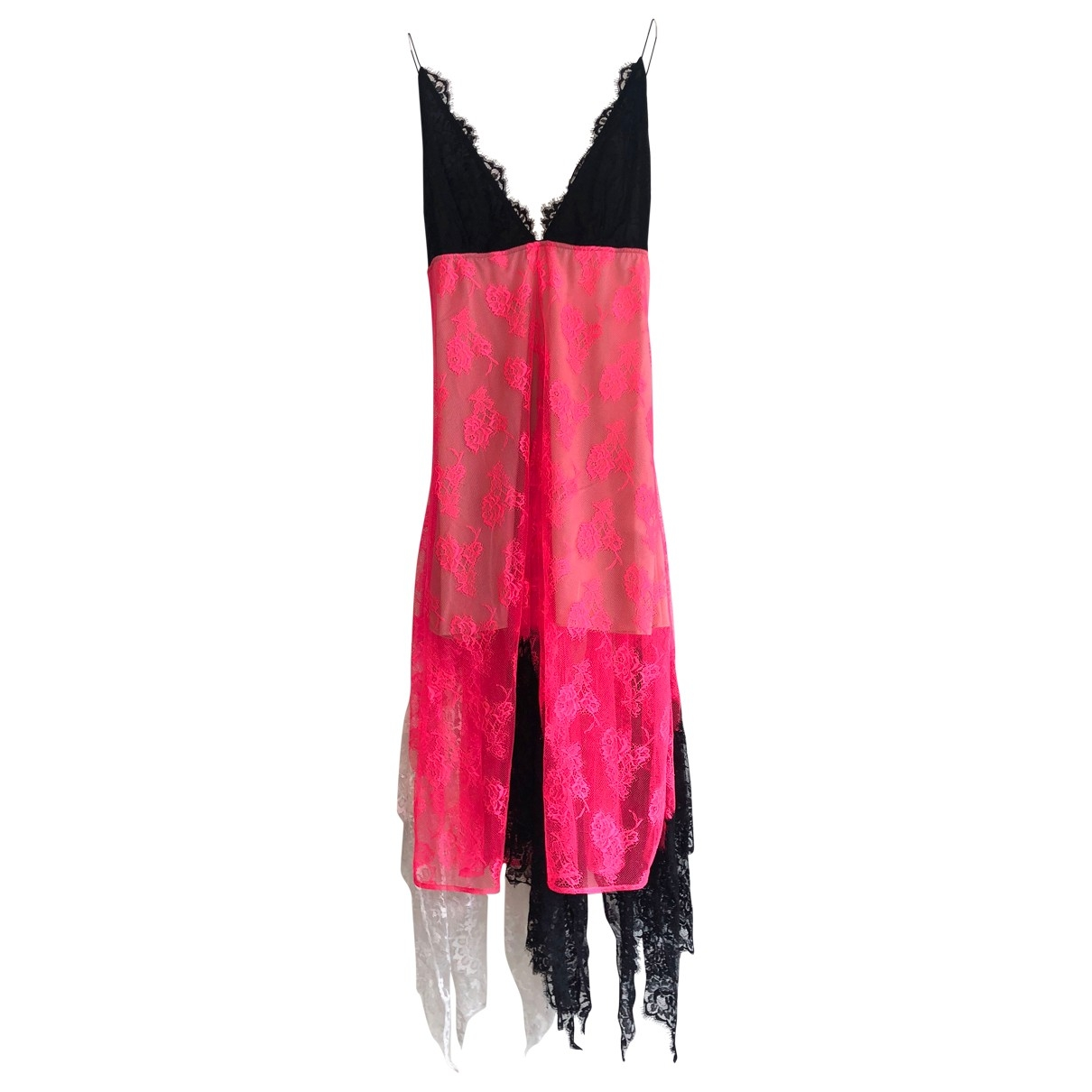 Christopher Kane - Robe   pour femme en dentelle - rose