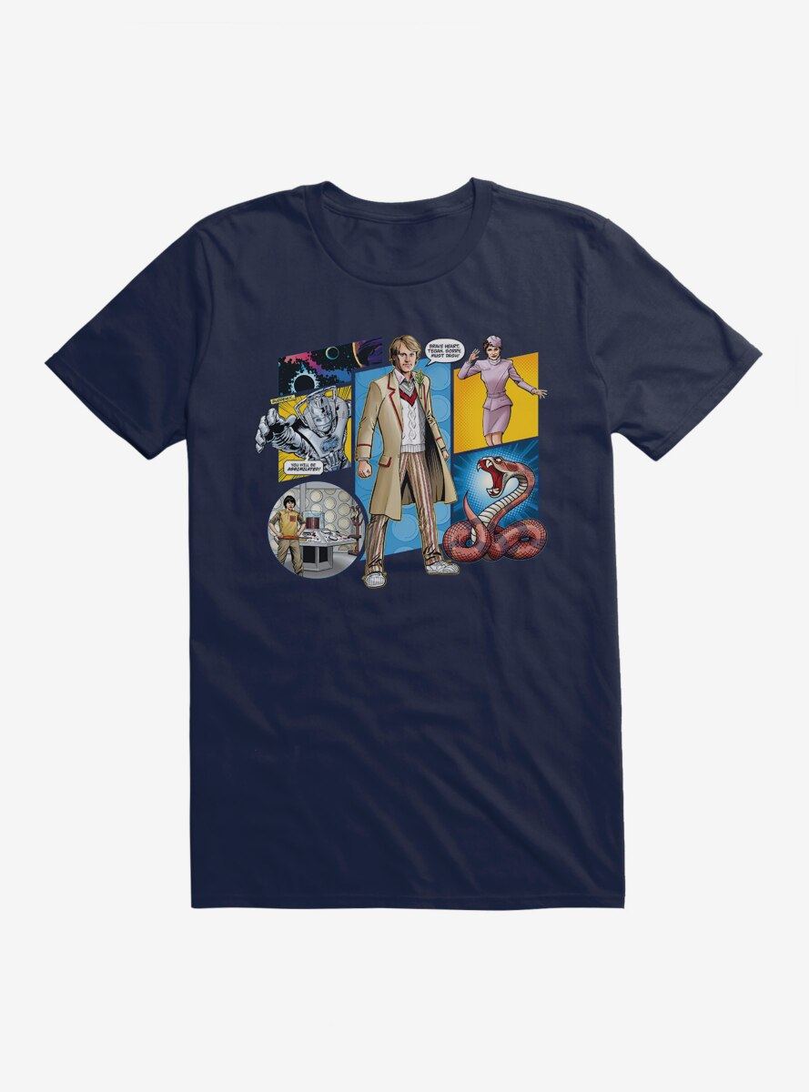 Doctor Who The Fifth Doctor Comic Scene T-Shirt