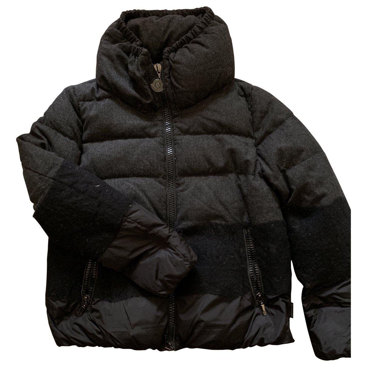 Moncler - Manteau   pour femme en laine - anthracite