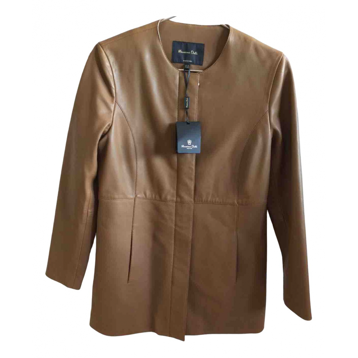 Massimo Dutti \N Camel Shearling jacket for Women S International