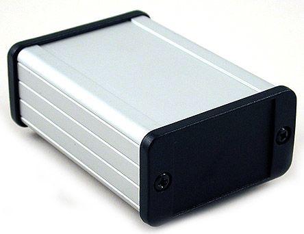 Hammond 1457, Clear Aluminium Enclosure, 62 x 88.39 x 33.93mm